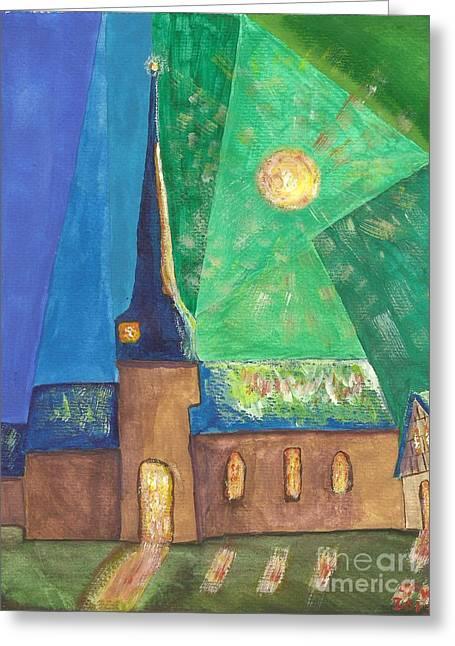 Glemroda Light Of God Greeting Card by John Williams