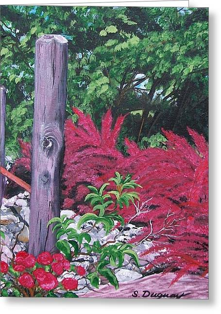 Glen Cairn Entrance Greeting Card by Sharon Duguay