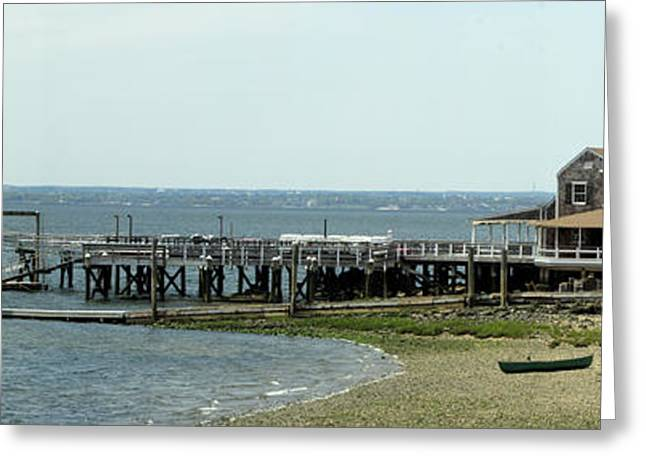 York Beach Greeting Cards - Glen Cove Panorama Greeting Card by Bob Slitzan