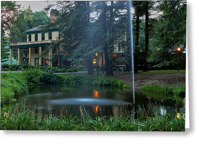 The Grand Canyon Greeting Cards - Glen Iris Inn And The Pond Greeting Card by Adam Jewell