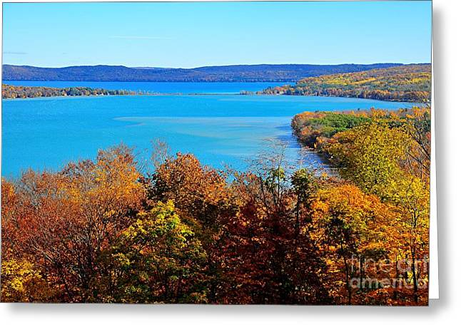 Outlook Greeting Cards - Glen Lake at Sleeping Bear National Lakeshore Greeting Card by Terri Gostola