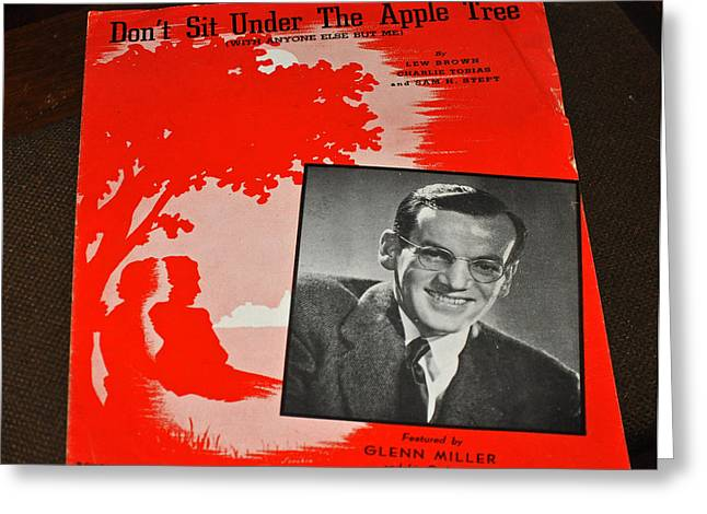 Apple Records Greeting Cards - Glen Miller Big Band Greeting Card by Jay Milo