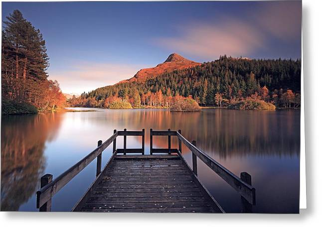 Lochan Greeting Cards - Glencoe Lochan  Greeting Card by Grant Glendinning