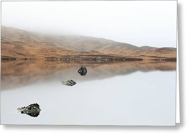 Lochan Greeting Cards - Glencoe Mist Greeting Card by Grant Glendinning