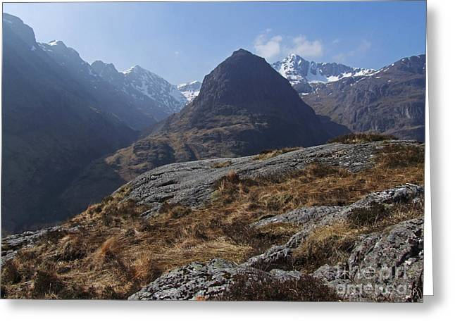 Campbell Clan Greeting Cards - Glencoe Peaks Greeting Card by Phil Banks