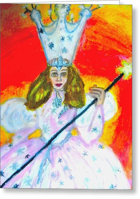 Good Witch Greeting Cards - Glenda The Good Witch Of Oz Greeting Card by Jo-Ann Hayden