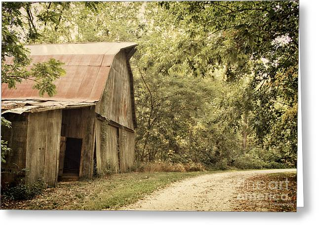 Dogwood Lake Greeting Cards - Glendale Barn Greeting Card by Diane Enright