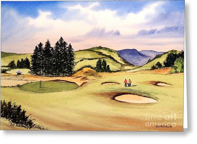 Clubhouse Greeting Cards - Gleneagles Golf Course Scotland Greeting Card by Bill Holkham