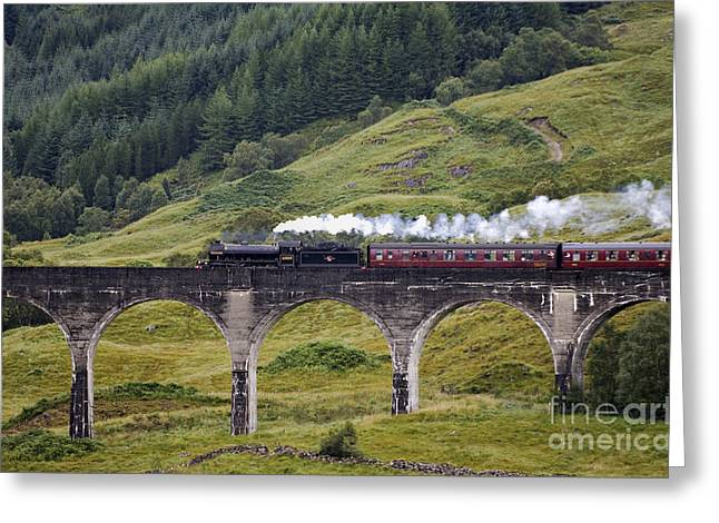 Hogwarts Greeting Cards - Glenfinnan Viaduct - D002340 Greeting Card by Daniel Dempster