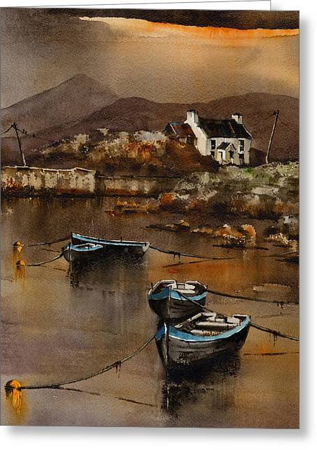 West Cork Greeting Cards - Glengarriff Sunset West Cork Greeting Card by Val Byrne