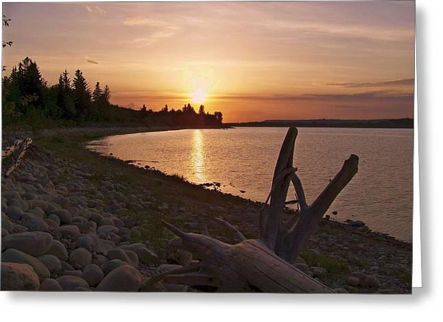 Glenmore Reservoir Greeting Cards - Glenmore Reservoir Greeting Card by Barry W Ulrich
