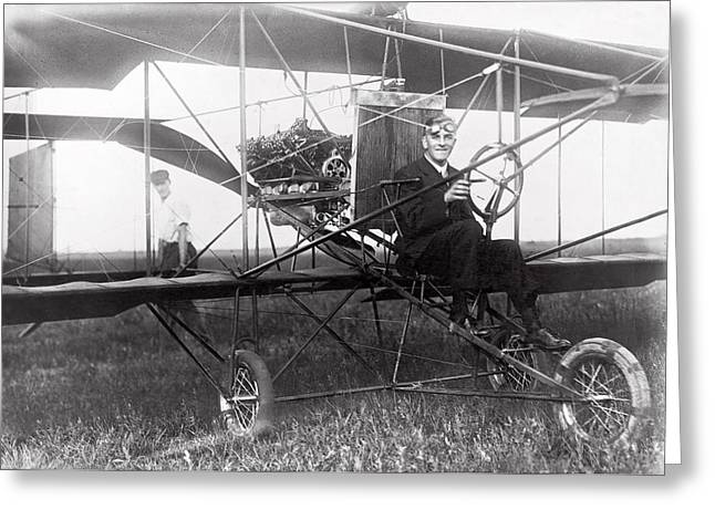 Aerospace Industry Greeting Cards - GLENN CURTISS - AVIATION PIONEER and FATHER of AIRCRAFT INDUSTRY - 1911 Greeting Card by Daniel Hagerman