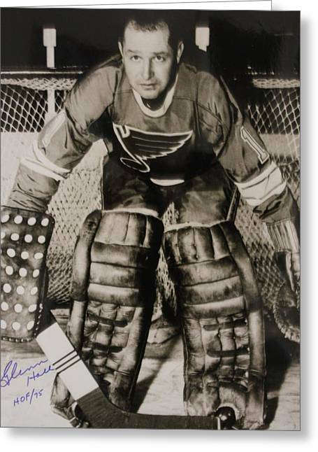 Goaltender Greeting Cards - Glenn Hall Poster Greeting Card by Gianfranco Weiss