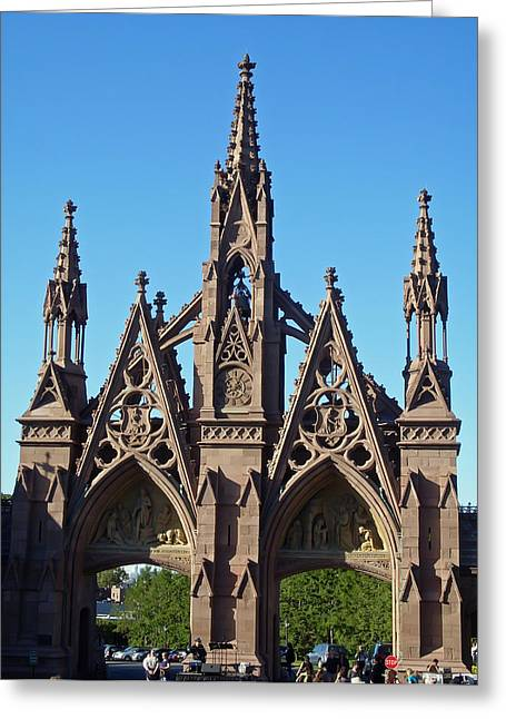 Religious Greeting Cards - Green-Wood Cemetery Greeting Card by Aimee L Maher Photography and Art