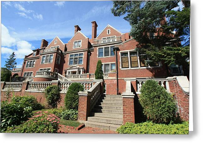 Glensheen Mansion Exterior Greeting Card by Amanda Stadther