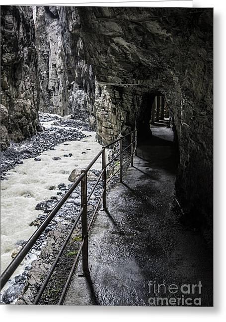 Gletscherschluct Grindelwald - Weisse Lutschine 2 Greeting Card by Gary Whitton