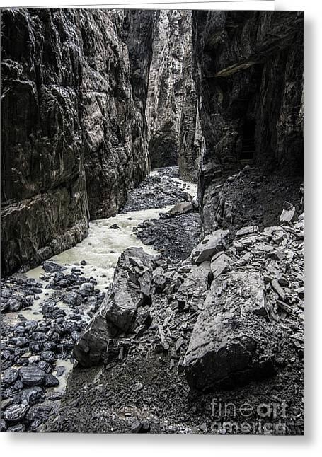 Gletscherschluct Grindelwald - Weisse Lutschine 3 Greeting Card by Gary Whitton