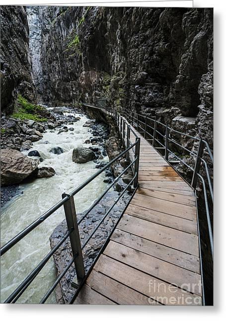 Gletscherschluct Grindelwald - Weisse Lutschine  Greeting Card by Gary Whitton