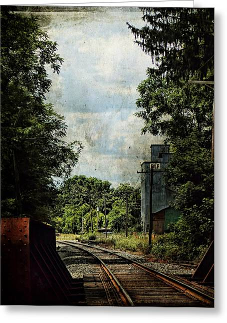 Warwick Digital Greeting Cards - GLF Tower Along the Tracks Greeting Card by Pamela Phelps