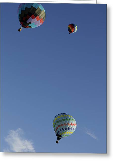 Three Hot Air Balloons Greeting Cards - Glide Greeting Card by Luke Moore
