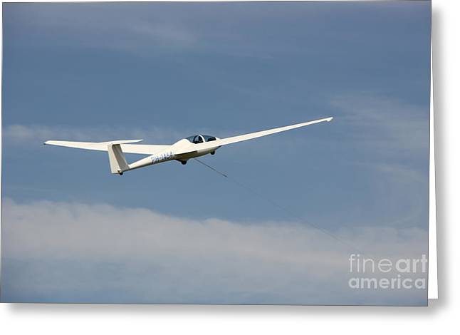 Enjoying Greeting Cards - Glider in the sky Greeting Card by Jackie Mestrom