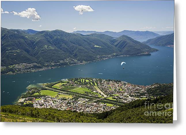 Swiss Greeting Cards - Gliding in Paradise Greeting Card by Ning Mosberger-Tang