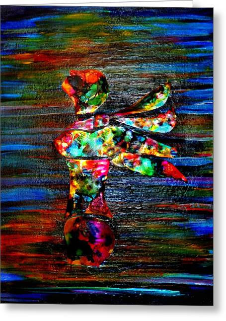 Born Again Mixed Media Greeting Cards - Glimmer 2 Greeting Card by Jill Jacobs