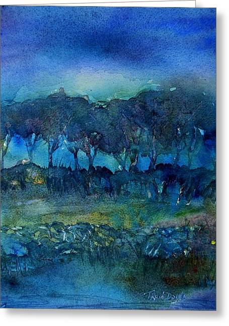Haze Paintings Greeting Cards - Glimmer of Dawn  Greeting Card by Trudi Doyle