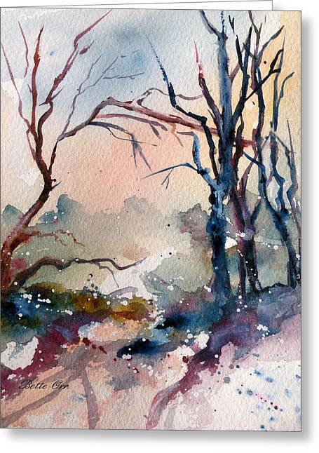 Dream Scape Greeting Cards - Glimpse Greeting Card by Bette Orr