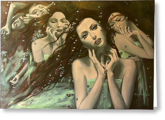 Live Paintings Greeting Cards - Glissando Greeting Card by Dorina  Costras