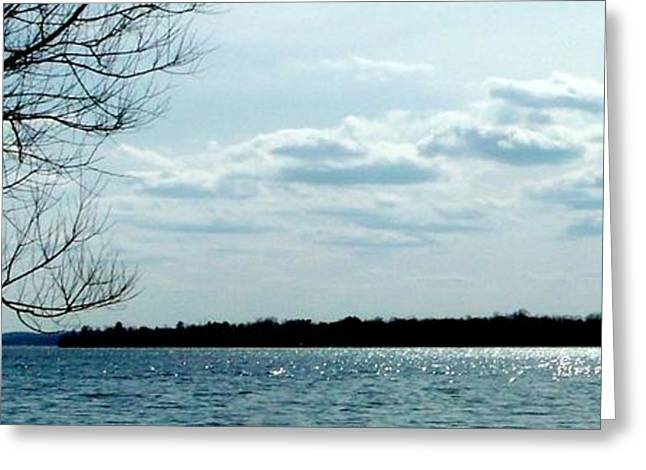 Mystical Landscape Greeting Cards - Glistening water near the Island Greeting Card by Gail Matthews