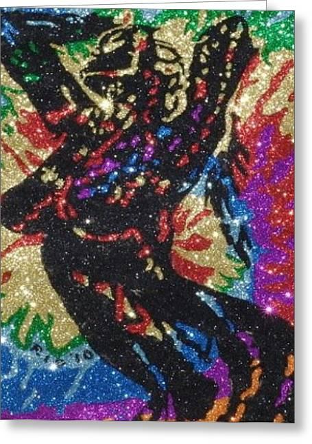 Tasteful Art Mixed Media Greeting Cards - Glitter Art  Aria Giovanni Art Greeting Card by Richard Ian Cohen