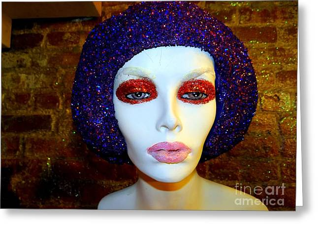 Glitter Gal Greeting Card by Ed Weidman