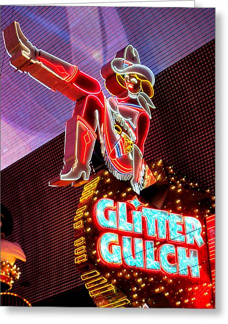 Glitter Gulch Greeting Cards - Glitter Gulch Greeting Card by Randall Weidner