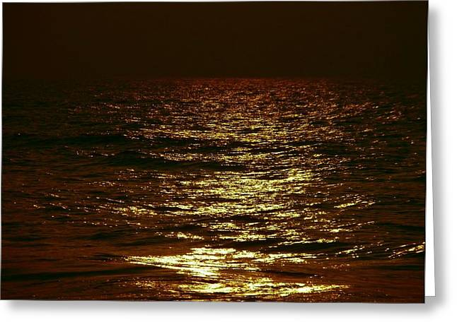 Ocean Photography Pyrography Greeting Cards - Glittering waters Greeting Card by Hari G