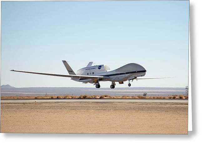 Global Hawk Unmanned Aerial Vehicle Greeting Card by Nasa/jim Ross
