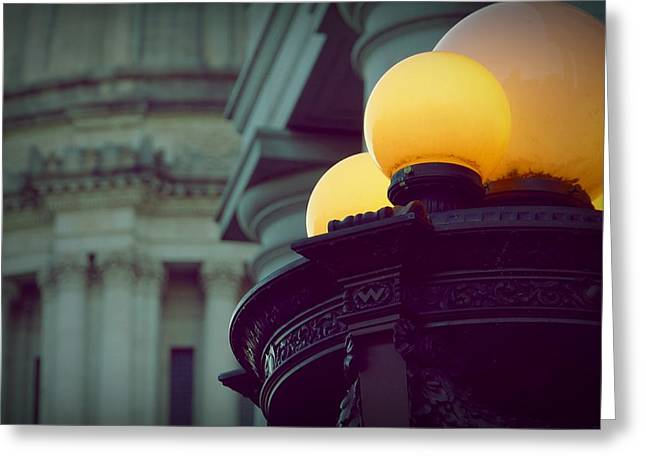 Global Lighting Greeting Card by Patricia Strand