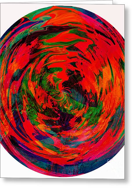 Global Warming - Hot Earth - Abstract Greeting Card by Barbara Griffin