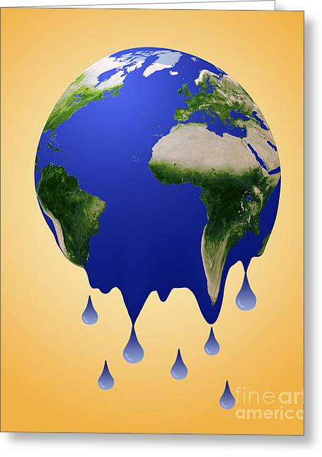 Overheating Greeting Cards - Global Warming Greeting Card by Monica Schroeder / Science Source