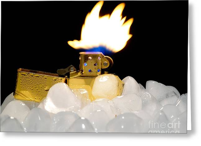 Lighter Greeting Cards - Global warming Greeting Card by Sinisa Botas