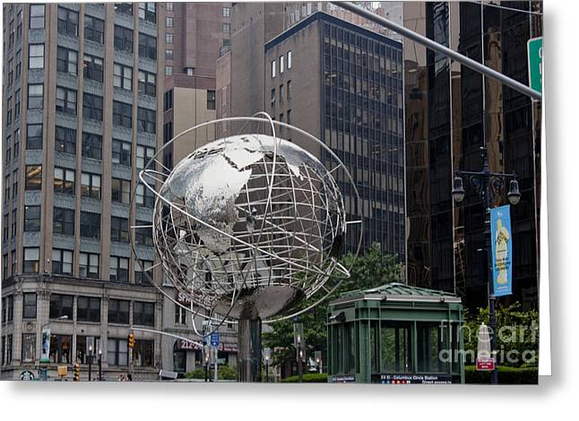Central Park West Greeting Cards - Globe Sculpture Greeting Card by David Bearden
