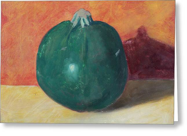Garden Vegetables Greeting Cards - Globe Squash Greeting Card by John Holdway