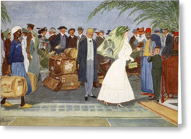 Edwardian Greeting Cards - Globe Trotters, From The Light Side Greeting Card by Lance Thackeray