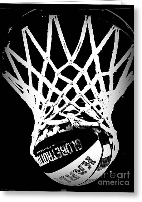 Harlem Globetrotters Greeting Cards - Globetrotter Greeting Card by Amy Steeples