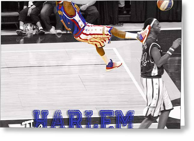Globetrotters Super Slam Greeting Card by Robert Saunders Jr