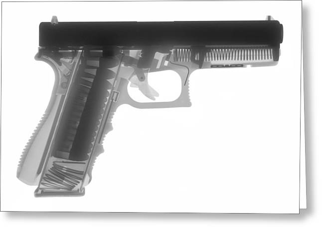 Guns Photographs Greeting Cards - Glock G17 Greeting Card by Ray Gunz