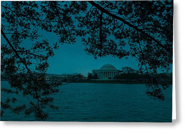 Patriot League Greeting Cards - Gloomy Morning in DC Greeting Card by David Hahn