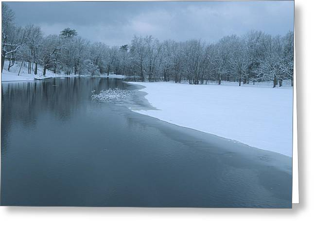 Concord Greeting Cards - Gloomy Winter Day Greeting Card by Bucko Productions Photography