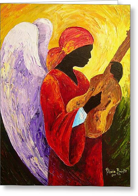 Strumming Greeting Cards - Gloria in Excelcis Deo Greeting Card by Patricia Brintle