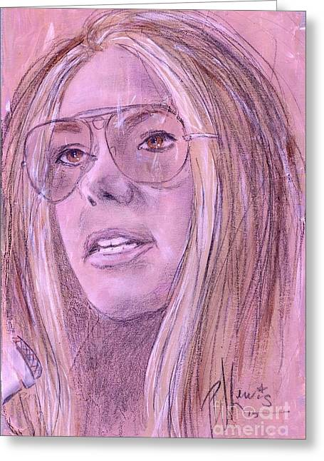 Important Drawings Greeting Cards - Gloria Steinem Greeting Card by P J Lewis